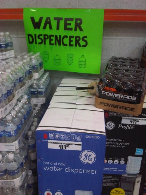 """""""Water Dispencer"""" for sale at Home Depot"""