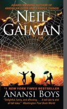 Gaiman's Anansi Boys book cover